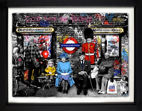 Battersea Power Station by Mr. Brainwash - Framed Limited Edition on Paper